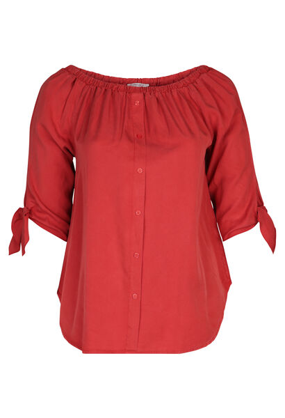 Bluse aus Lyocell - Orange