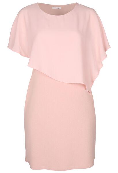 Kleid mit Oberteil aus Voile - Alte Rosa