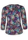 T-Shirt mit Klee-Print aus kühlendem Material, Multicolor