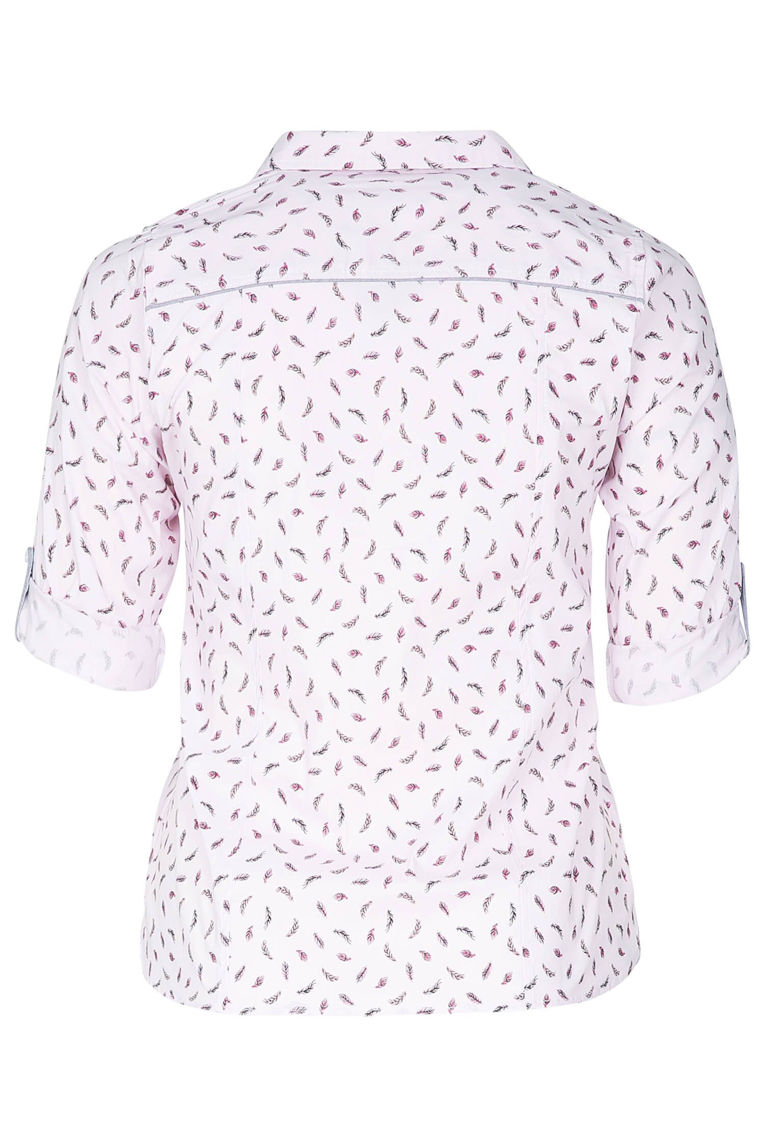 Bluse mit Feder Print