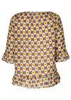 Bluse mit Ethno-Print, ocker