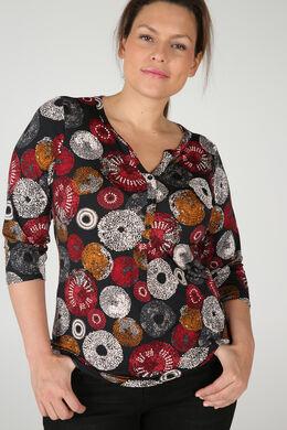 T-Shirt mit Tupfenaufdruck, Rot