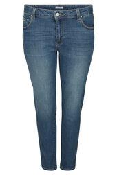 7/8 Jeans mit Stickerei-Details
