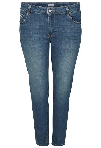 7/8 Jeans mit Stickerei-Details - Denim