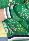 Geblümte Blousonjacke, Grün