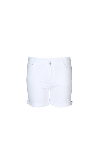 Baumwollshorts mit 5 Taschen - weiß