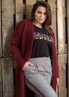 Karierte City-Hose mit Sportswear-Streifen, Schwarz