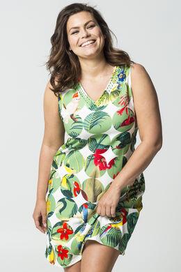 Mit großen Kreisen bedrucktes Kleid, Multicolor