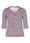 T-Shirt mit Mosaik-Print aus kühlendem Mesh-Gewebe, Marine