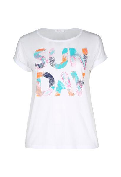 """T-Shirt mit Aufdruck """"Sun Day"""" - weiß"""