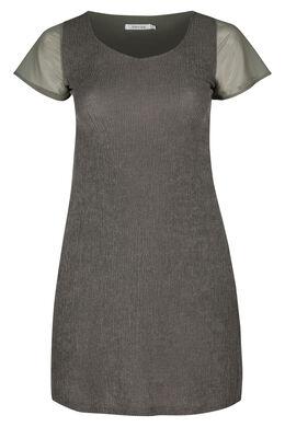 Tunika-Kleid aus Voile, Khaki