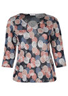 T-Shirt mit Rubberprint-Kreisen, Alte Rosa
