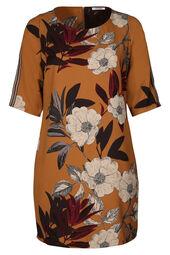 Kleid in entspannter Passform mit Blumen-Print und Sportswear-Streifen