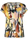 T-Shirt mit Pinselstrich-Aufdruck, Multicolor