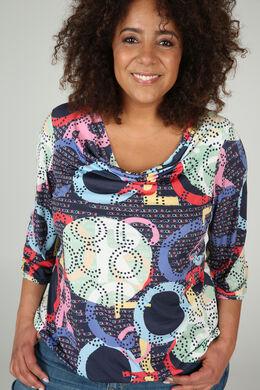 Bedrucktes T-Shirt aus kühlem Material, Multicolor