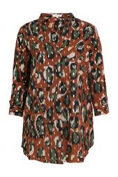 Tunika-Kleid im Tiermuster-Druck mit Foliendruck-Akzenten