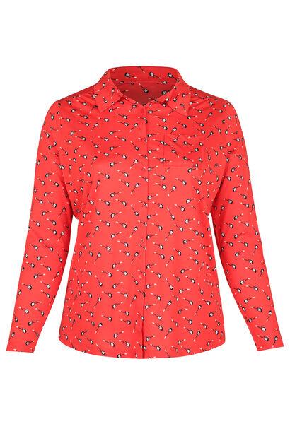 T-Shirt mit Gitarrenaufdruck - Rot