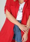 Lyocell-Kleid mit Hemdkragen, Rot