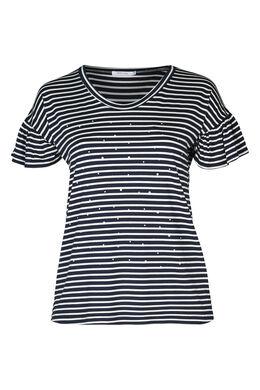 Matrosen-T-Shirt mit Perlen, Marine