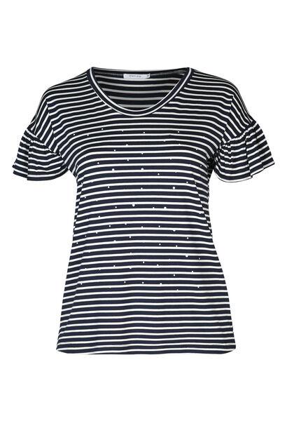 Matrosen-T-Shirt mit Perlen - Marine