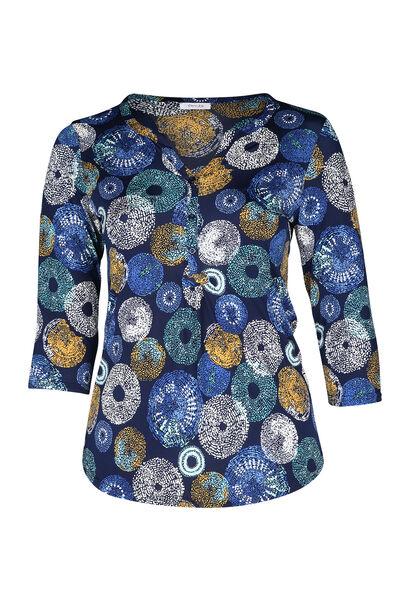 T-Shirt mit Tupfenaufdruck - Blau Bic