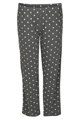 Pyjama-Hose mit Tupfendruck, China Grau