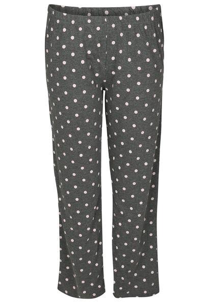 Pyjama-Hose mit Tupfendruck - China Grau