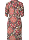 Langes Hemdkleid mit Paisley-Print, Multicolor