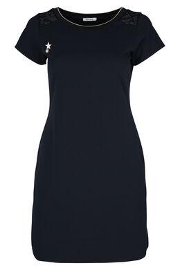 Kleid aus Kreppstoff, Marine