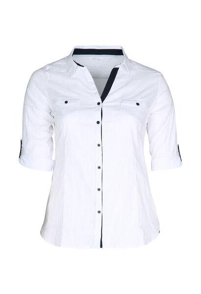 Bluse met ein Kreisdruck - weiß