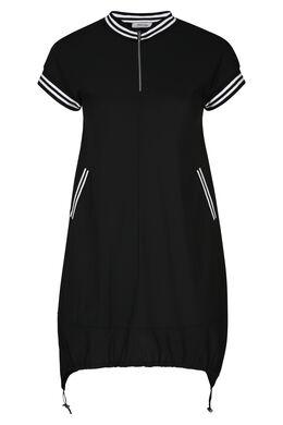 Tunika-Kleid im Sportswear Style, Schwarz