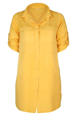 Hemdkleid aus einfarbigem, ocker