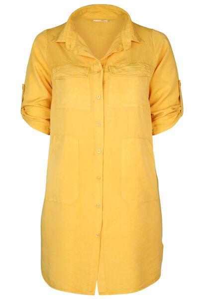 Hemdkleid aus einfarbigem - ocker