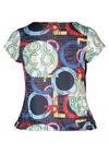 T-Shirt aus kühlem Material mit Wasserfallkragen, Multicolor