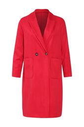 Langer Mantel mit zwei Knöpfen