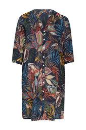Kleid aus Viskose mit Blumenaufdruck