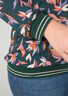 Bluse aus Voile mit Blumendruck, Grün