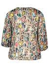 Bluse mit attraktivem, mehrfarbigem Print, Multicolor