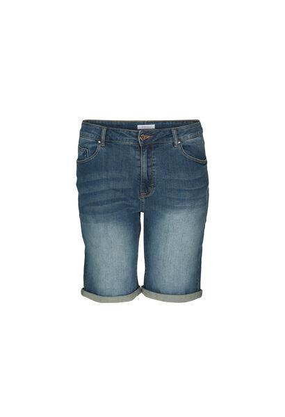 Jeans-Shorts mit Umschlag - Denim