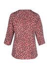 Bluse mit Tupfen- und Streifen-Print, Bordeaux