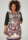 Kleid in entspannter Passform mit Barock-Print, Lila
