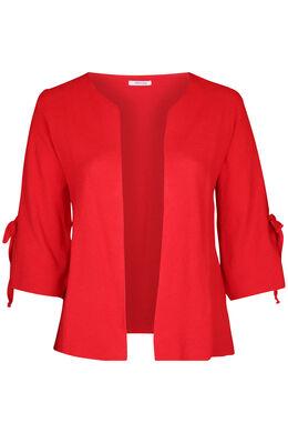Langärmeliger Cardigan mit Bindedetail, Rot