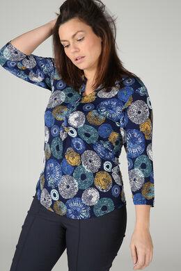 T-Shirt mit Tupfenaufdruck, Blau Bic
