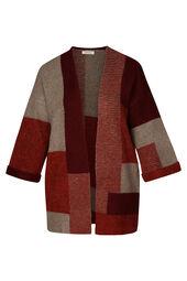 Langer Colour-Block-Cardigan