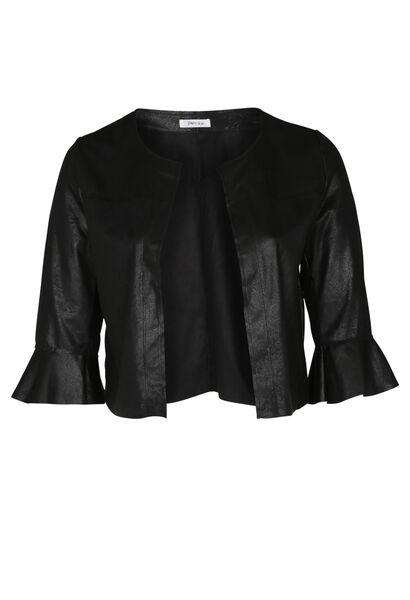 Jacke aus Wildlederimitat - Schwarz