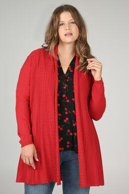 Cardigan mit Zipfelrevers, Orange