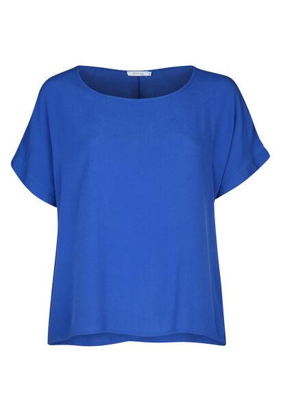 Weite Bluse mit kurzen Ärmeln - Blau Bic