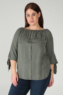 Bluse aus Lyocell, Khaki
