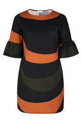 Kleid in entspannter Passform mit Wellen-Print