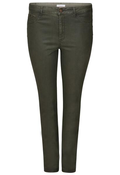 Slim-Hose aus beschichtetem Material - Khaki